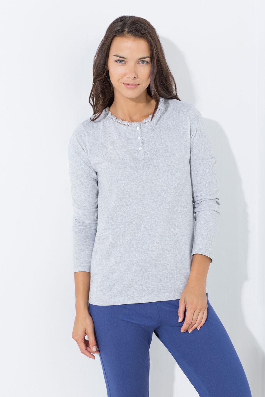 Henley pyjama t-shirt