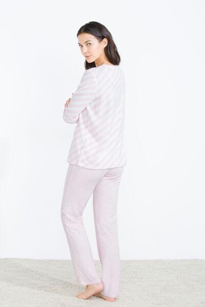 Long striped thermal pyjama