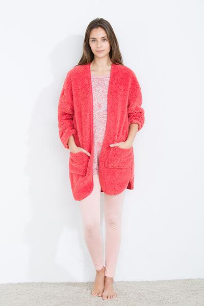 Faux shearling robe