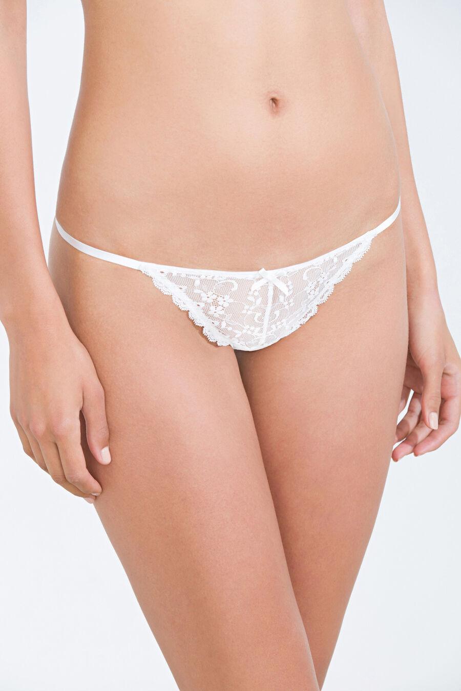 Lace strap Brazilian brief