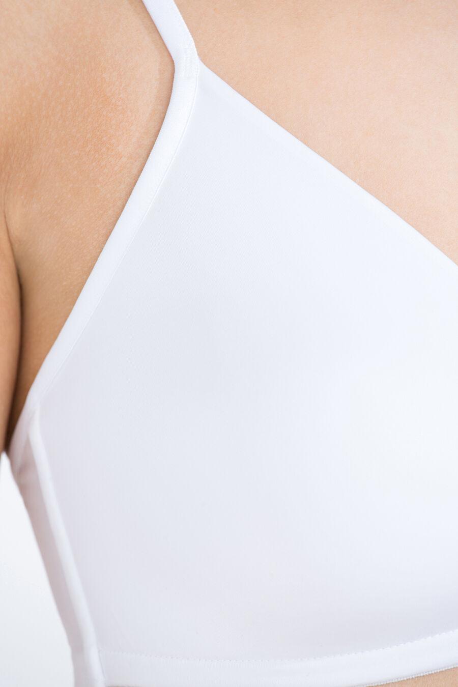 Wireless triangular padded bra