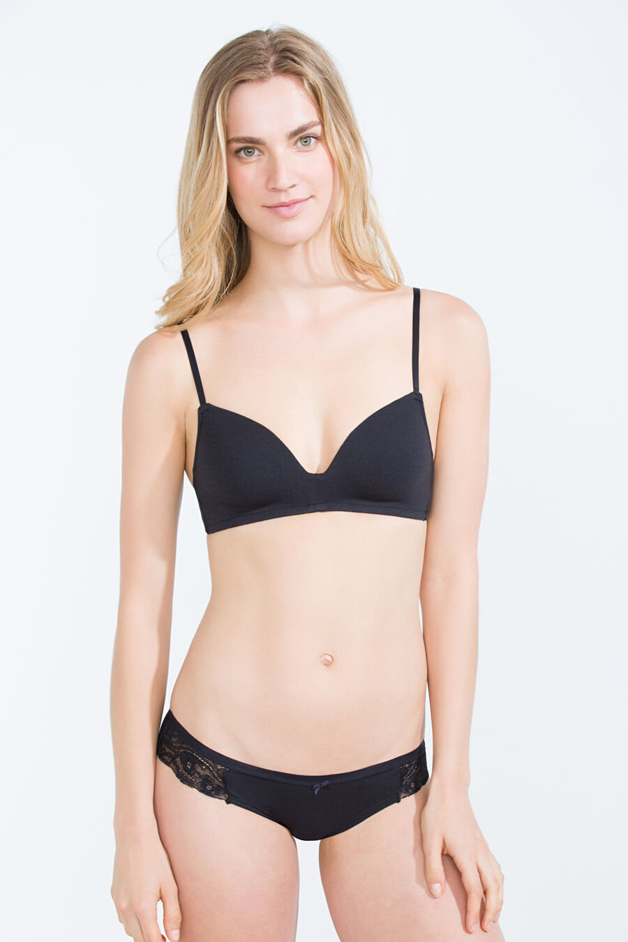 Cotton padded wireless bra
