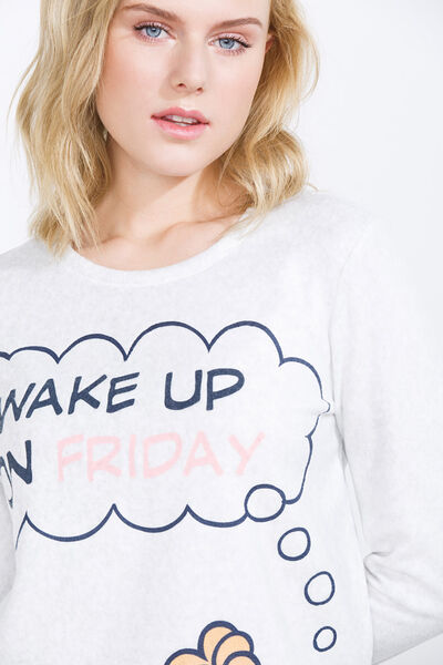 Pyjama polaire avec imprimé de Garfield