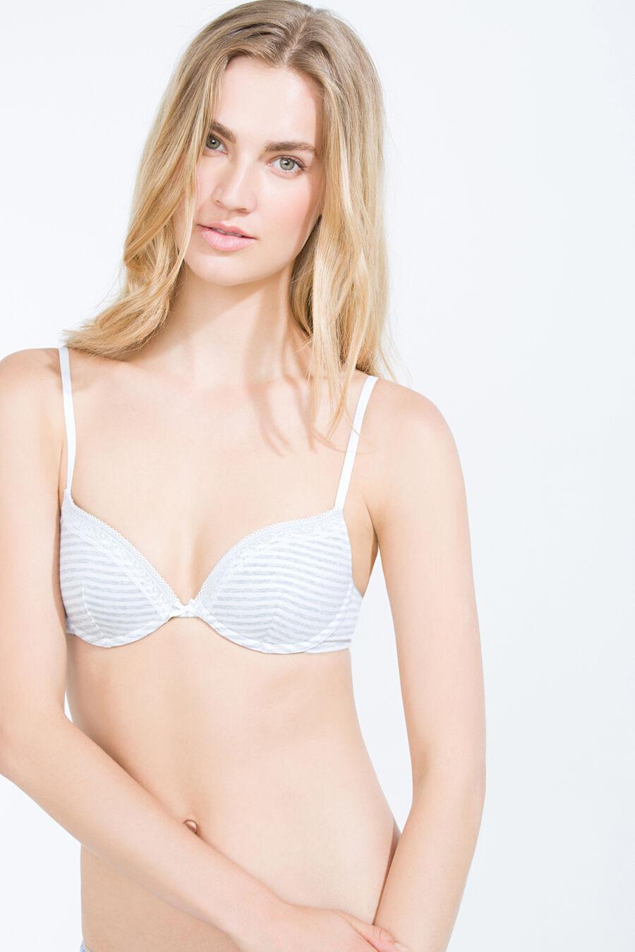 Padded cotton bra