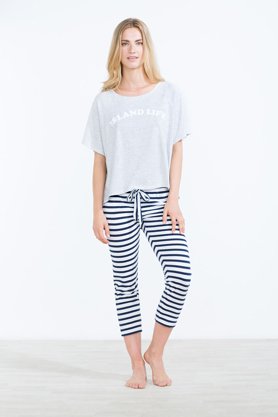 Striped capri pant