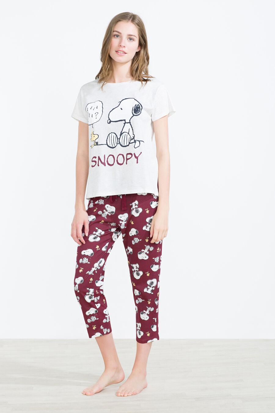 Long cotton Snoopy pyjama