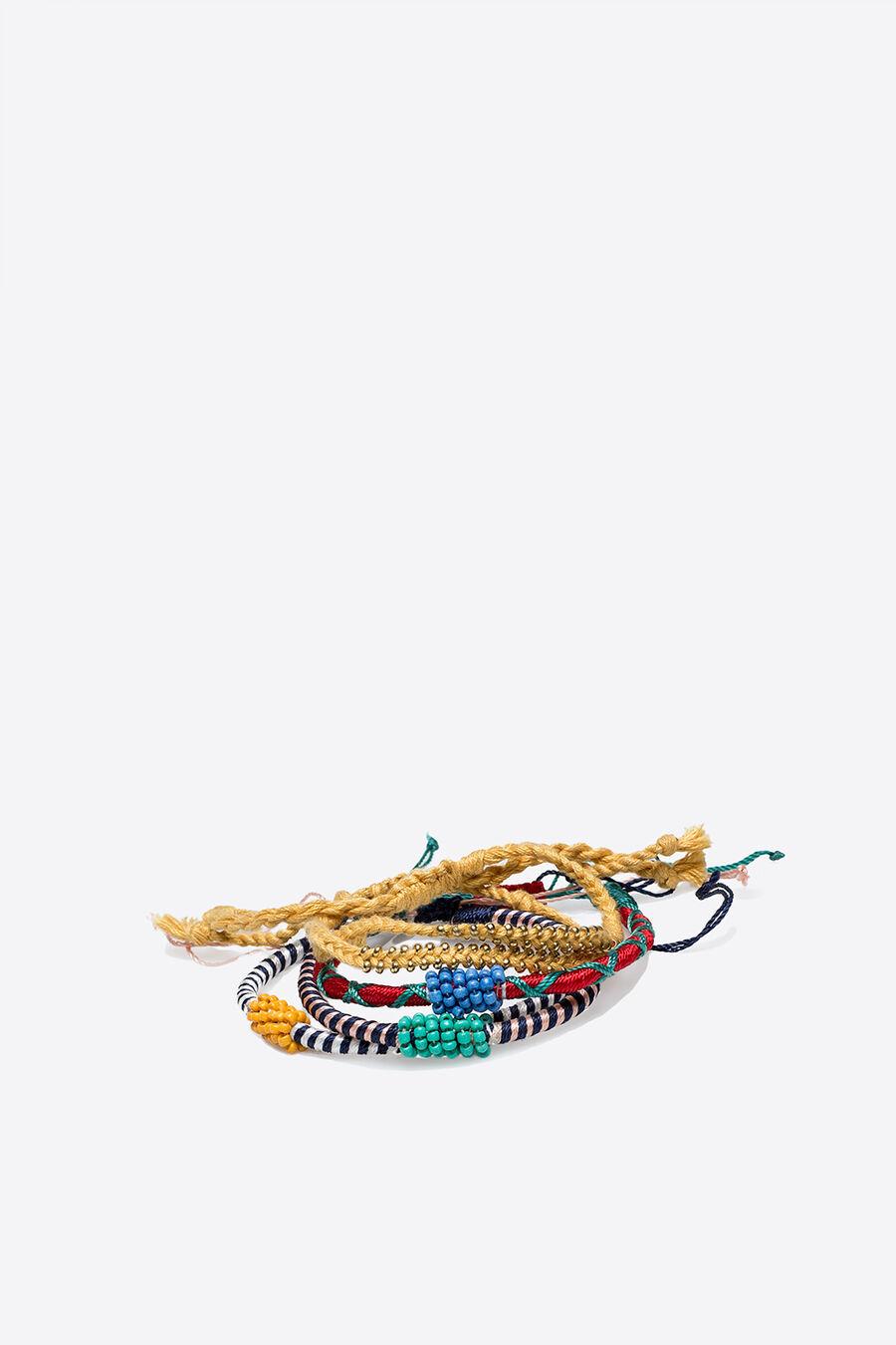 Pack of beaded bracelets.