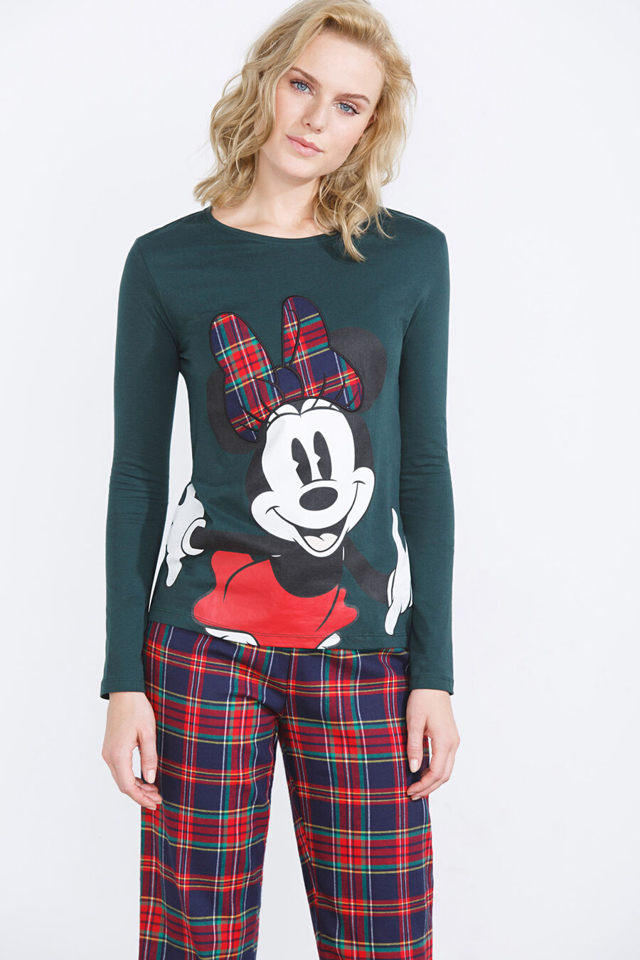 Long cotton Minnie pyjama