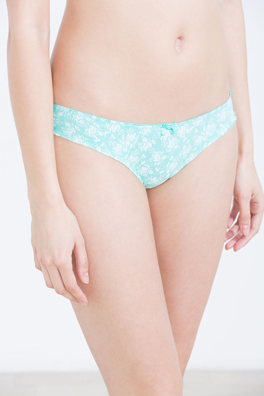 Floral print cotton brief