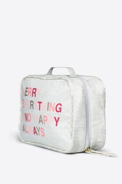 Large 'Merry' vanity case