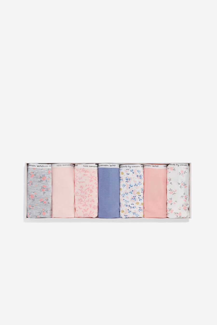 Pack of 7 flower print classic briefs