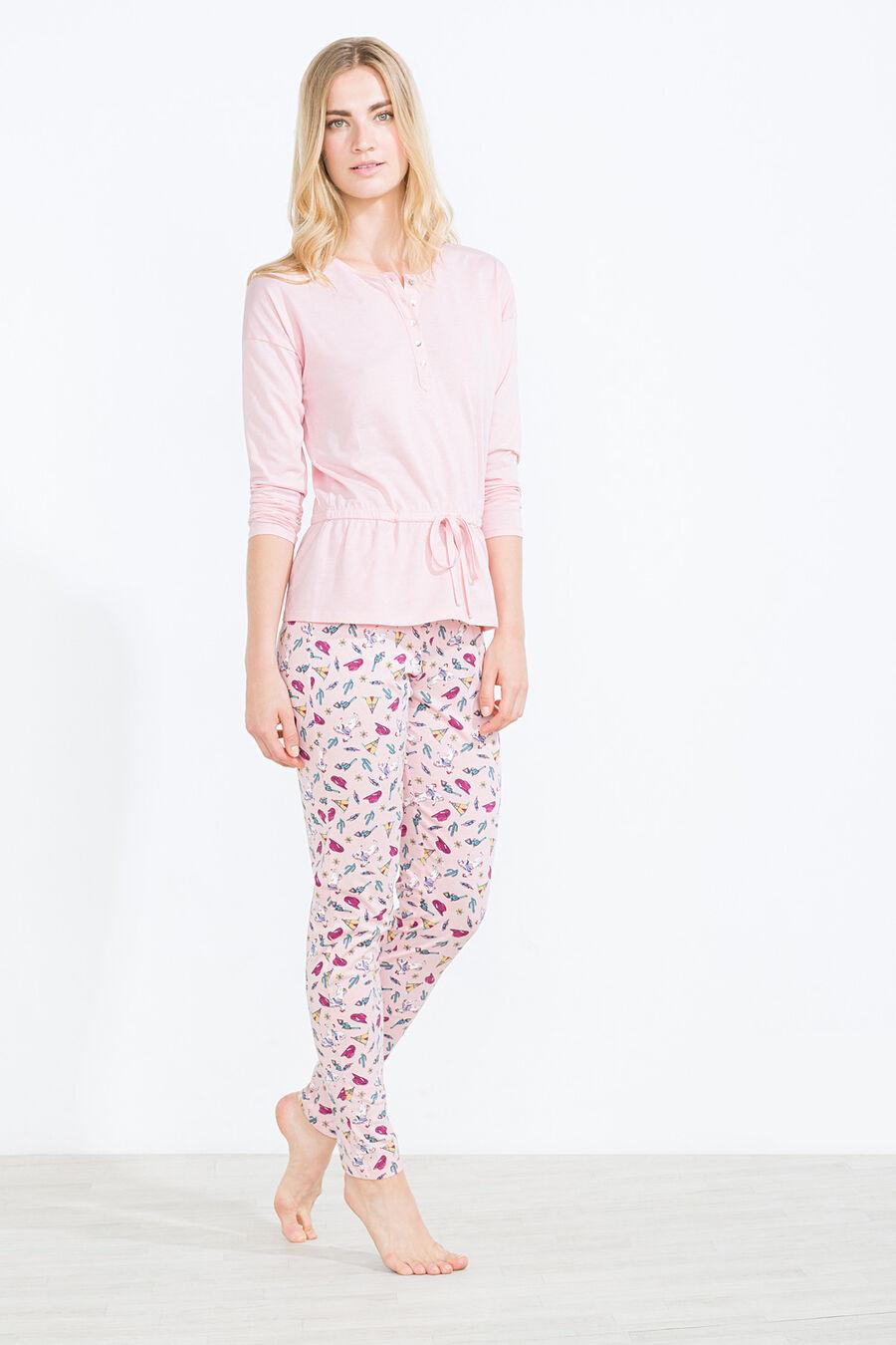 Button pyjama t-shirt