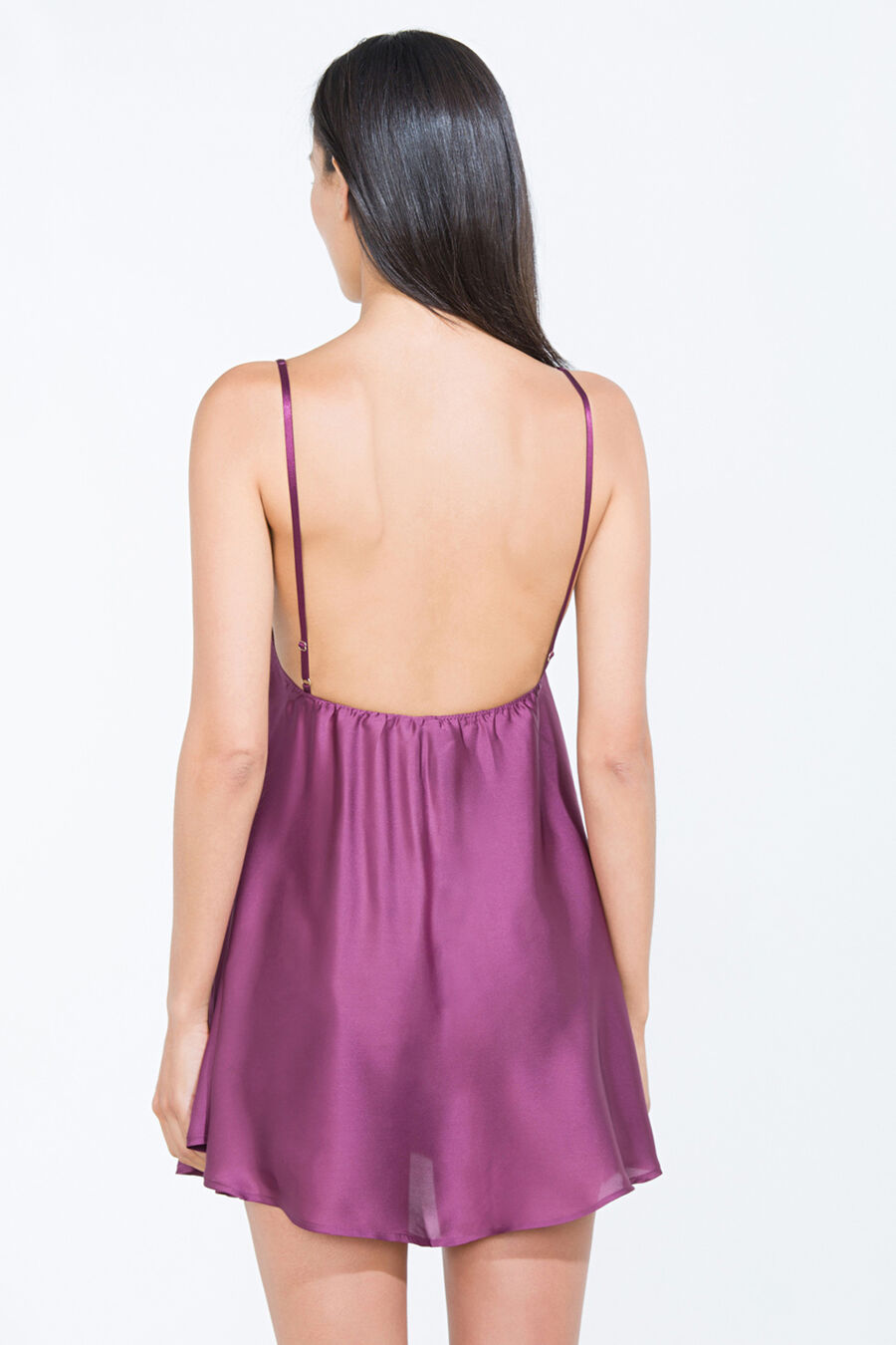 Satin and lace short nightgown