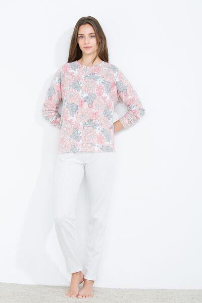 Long thermal floral print pyjama