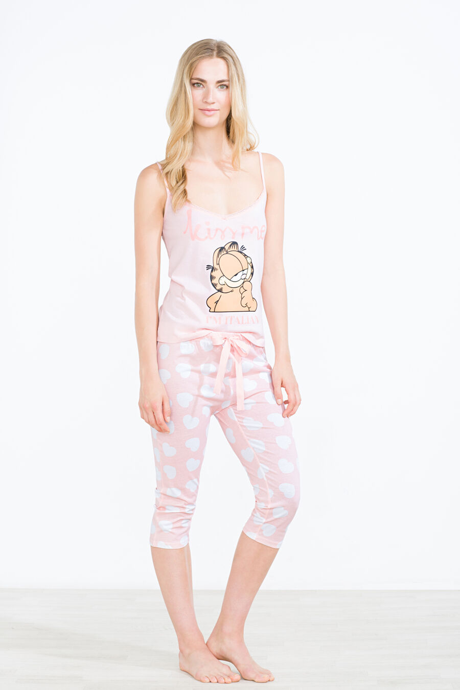 Garfield 'Kiss me' capri pyjama