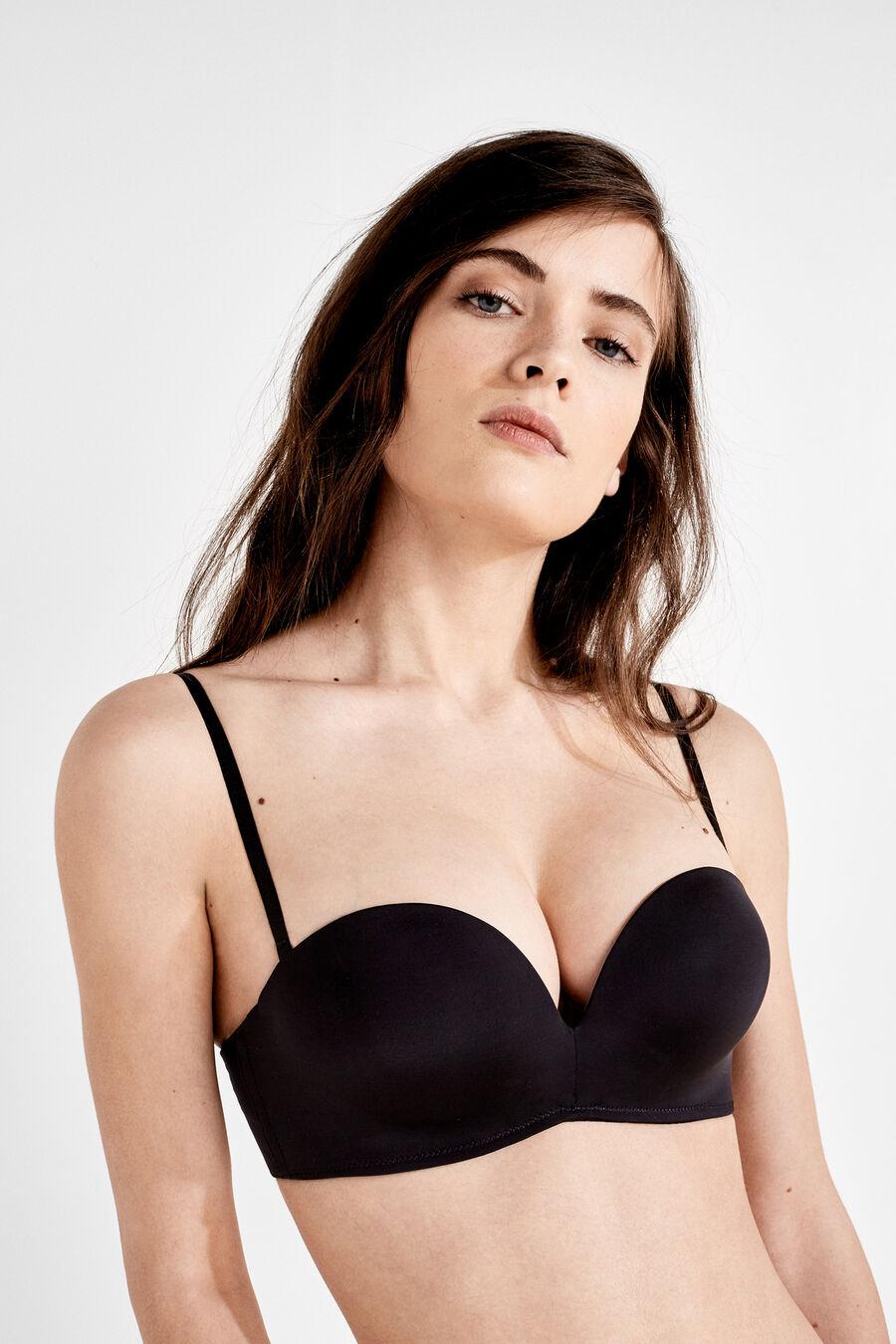 Wireless maxi push up strapless bra