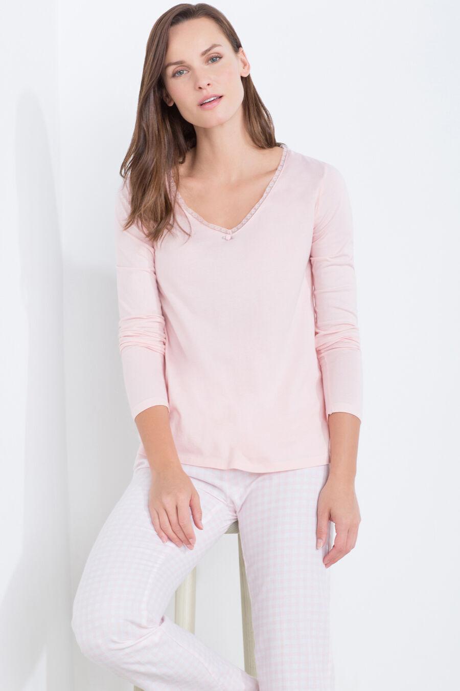 Vichy check long pyjama