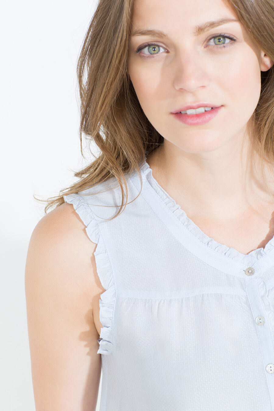Sleeveless short Maternity nightgown