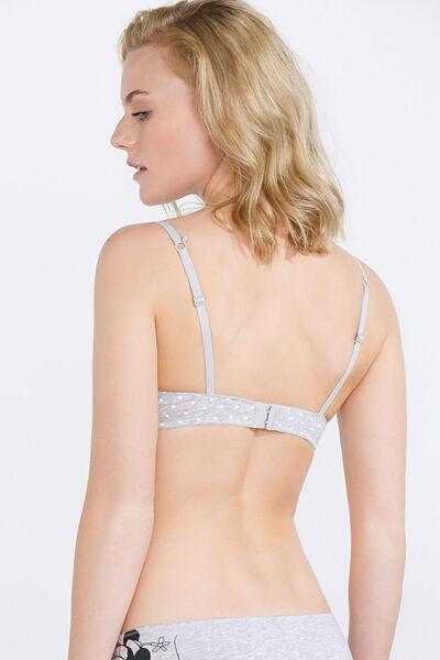 Cotton padded bra
