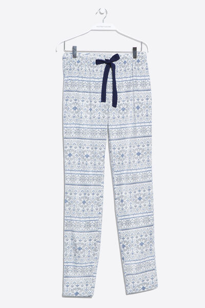 Long printed thermal pyjama pants