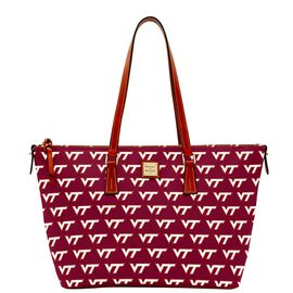 Virginia Tech Zip Top Shopper