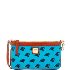 Panthers Large Slim Wristlet