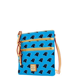 Panthers Triple Zip Crossbody