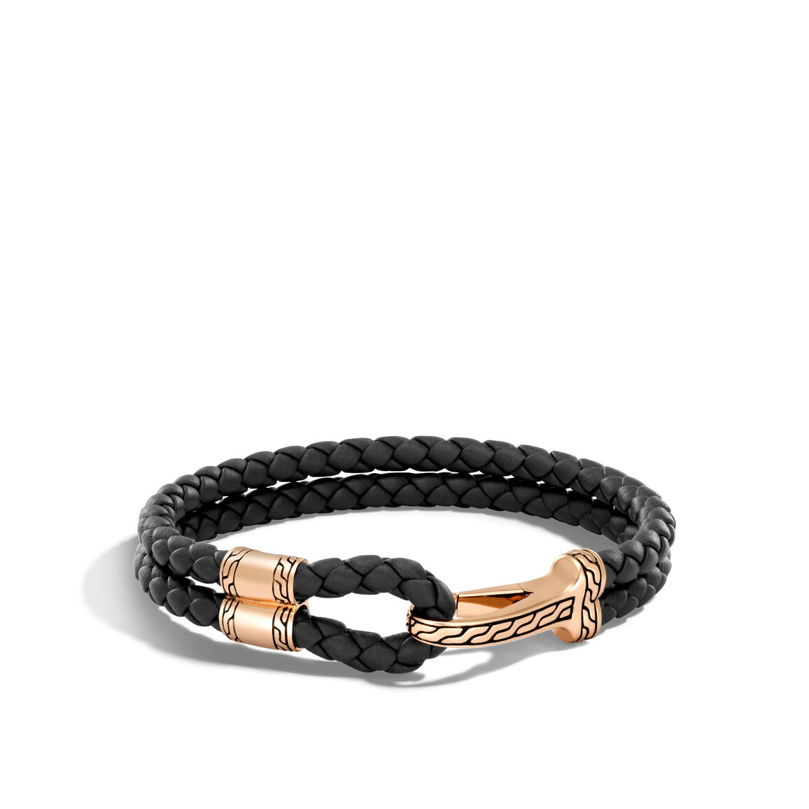 Classic Chain 11MM Station Bracelet in Bronze and Leather