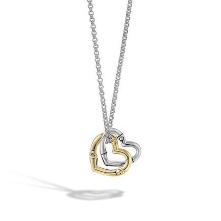 Overlap Heart Charm Pendant