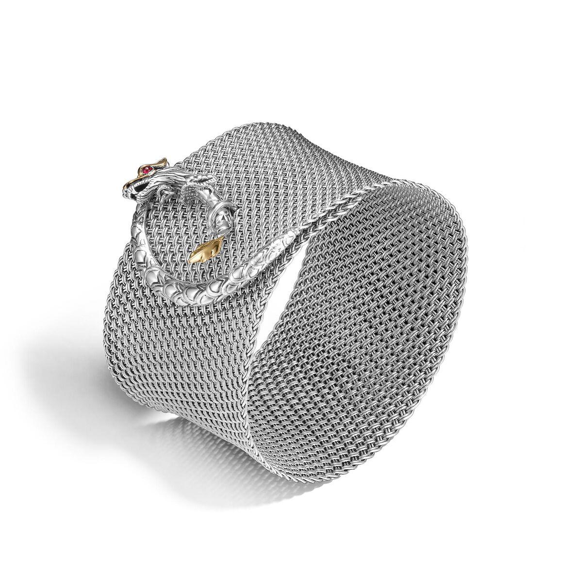 Legends Naga 39MM Cuff Bracelet in Silver and 18K Gold