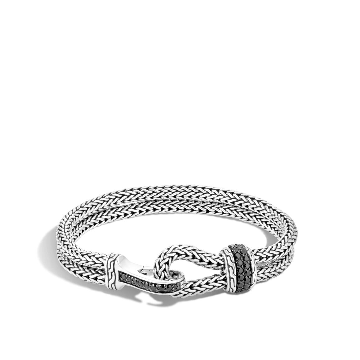 Classic Chain 9mm Station Bracelet, Silver, Gemstone