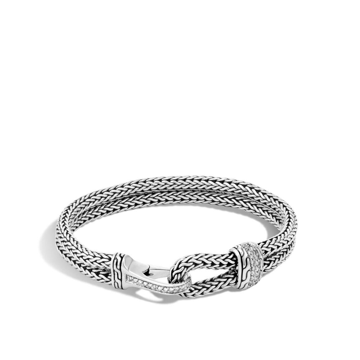 Classic Chain 9mm Station Bracelet, Silver, Gemstone