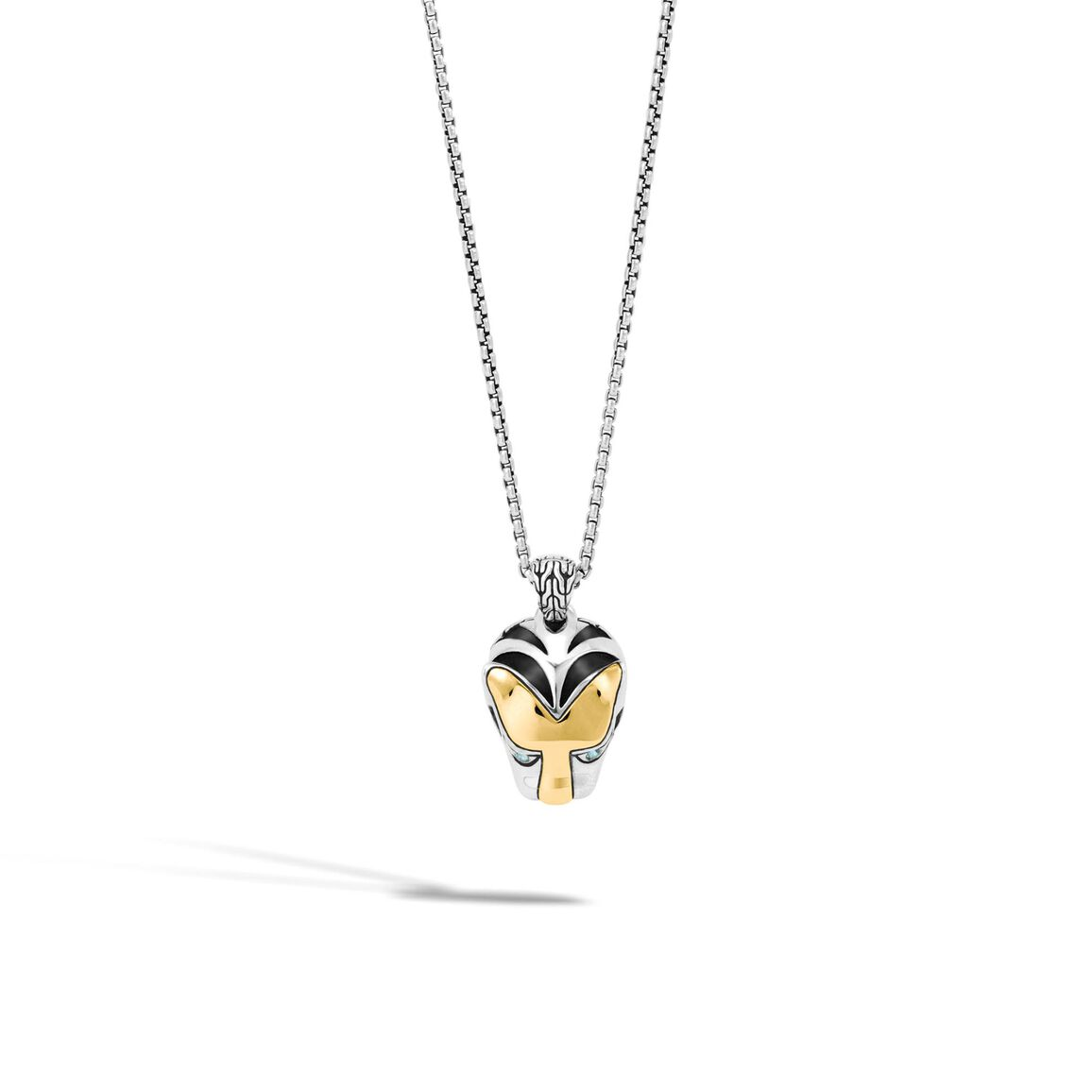 Legends Macan Pendant Necklace in Silver and 18K Gold
