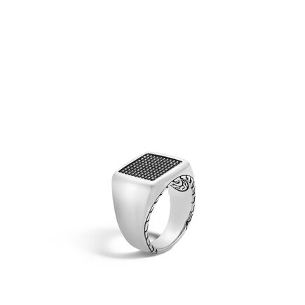 Chain Jawan Signet Ring in Silver