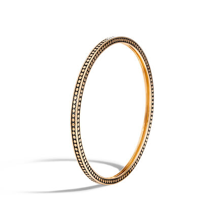 Dot 3.5MM Hinged Bangle in 18K Gold