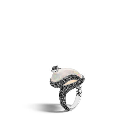 Legends Cobra Ring in Silver with 20x15MM Gemstone
