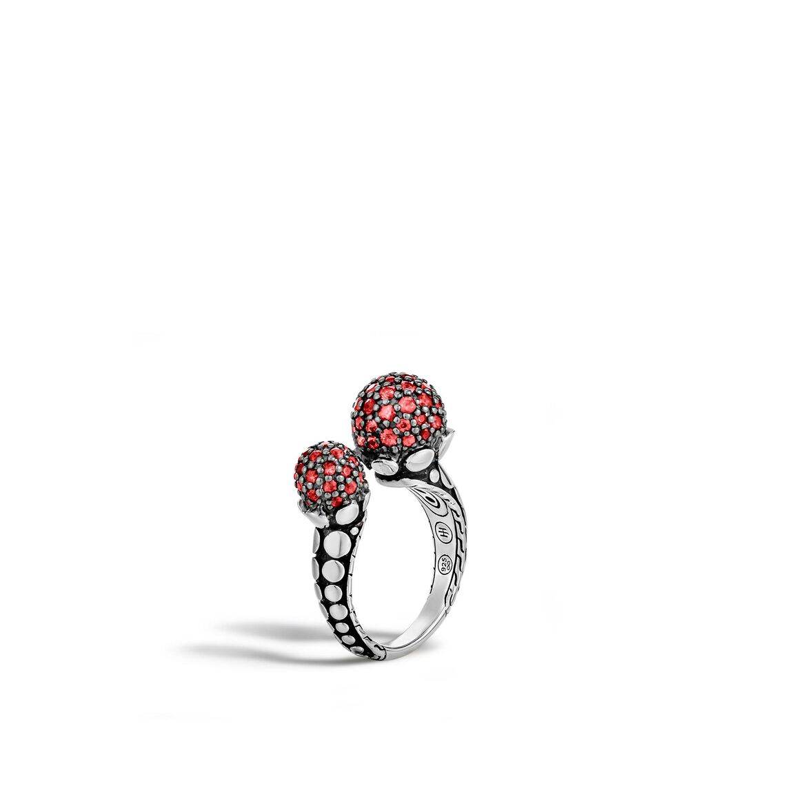 Dot Ring in Silver with Gemstone