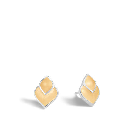 Legends Naga Stud Earring in Silver and 18K Gold