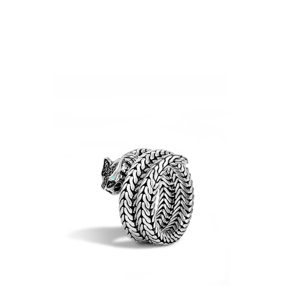 Legends Macan  Coil Ring in Silver with Gemstone