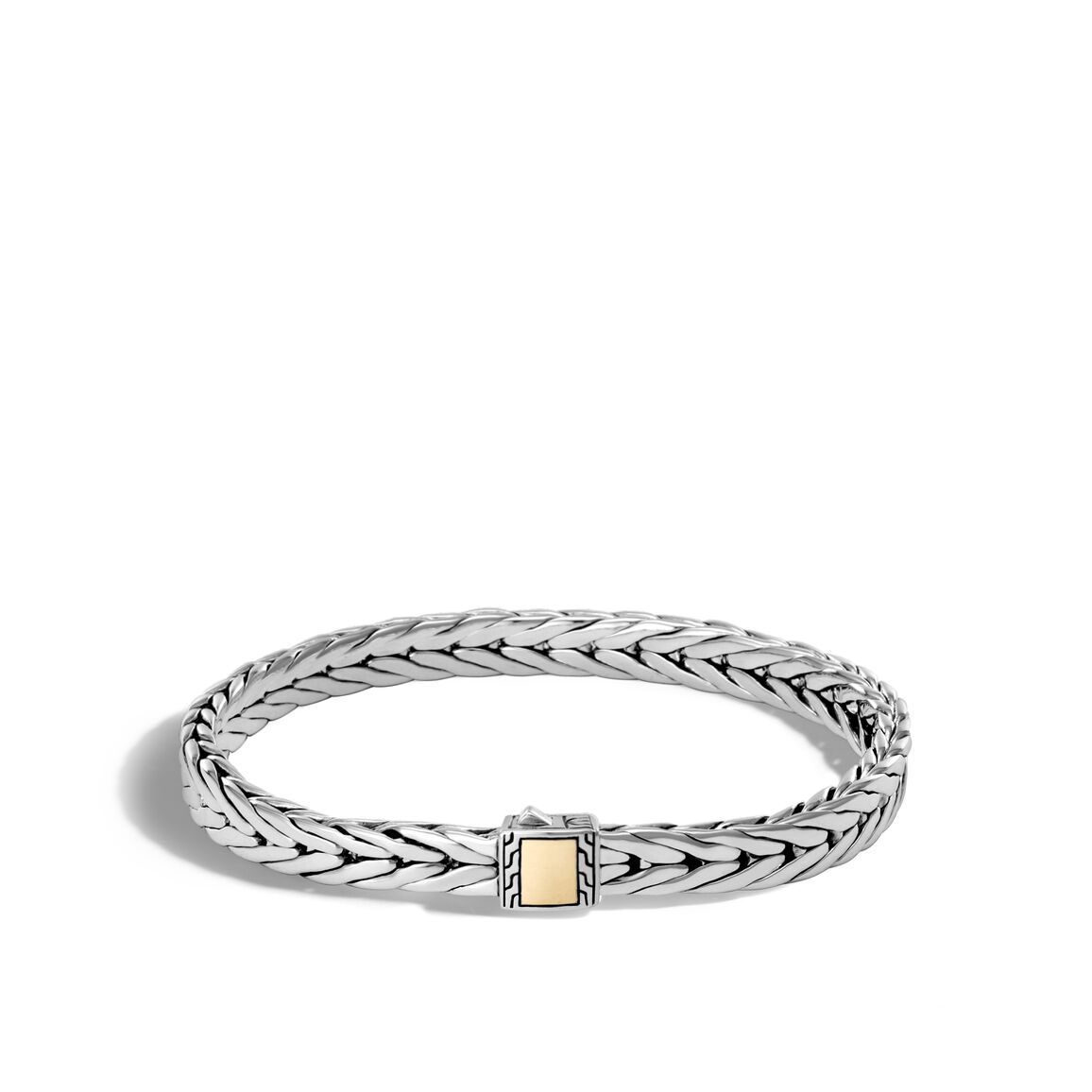Modern Chain 7MM Bracelet in Silver and 18K Gold