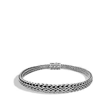 Classic Chain 8.5MM Graduated Bracelet in Silver