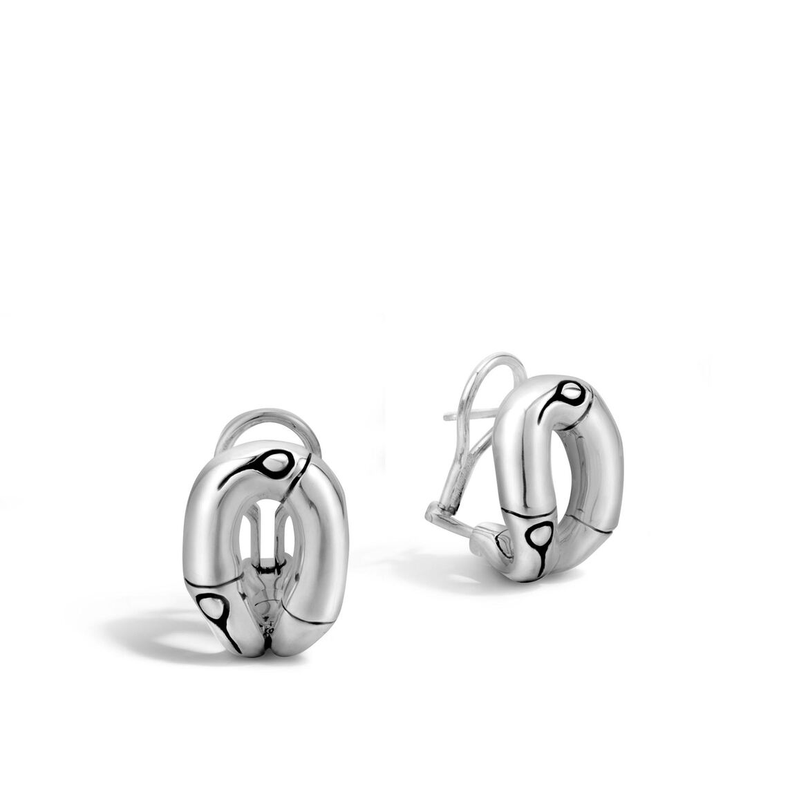 Bamboo Buddha Belly Earring in Silver