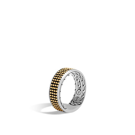 Chain Jawan 7.5MM Band Ring, Silver and 18K Gold