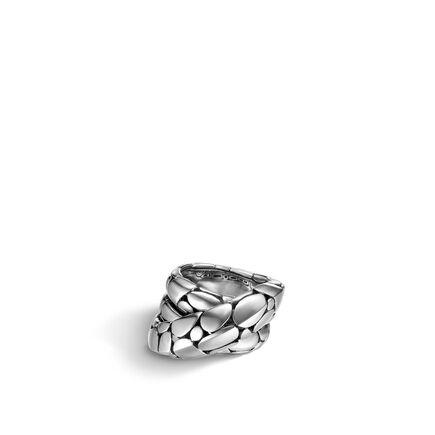 Kali Overlap Ring in Silver