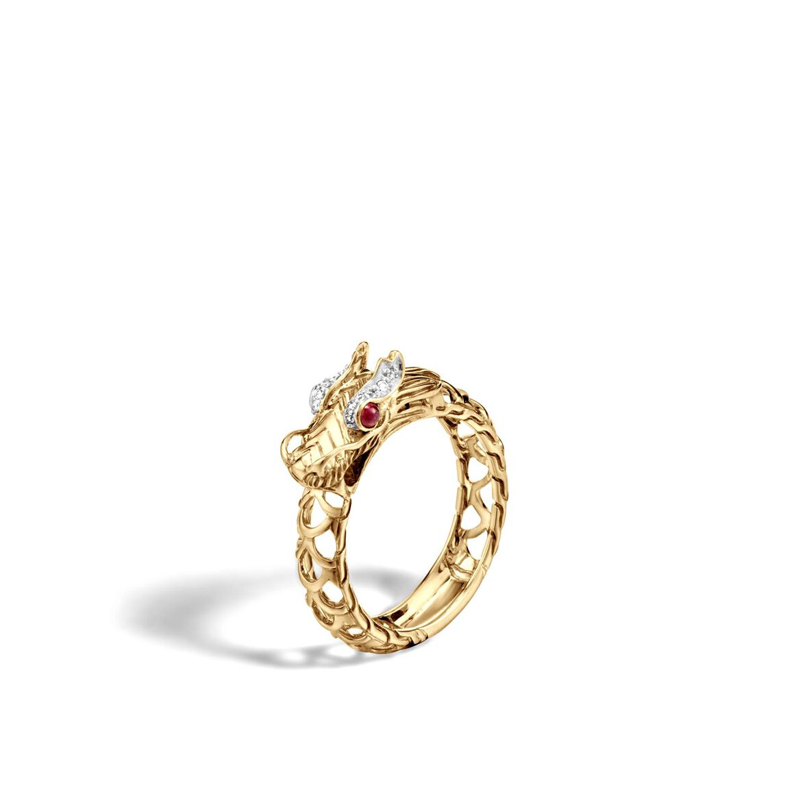 Legends Naga Ring in 18K Gold with Diamonds