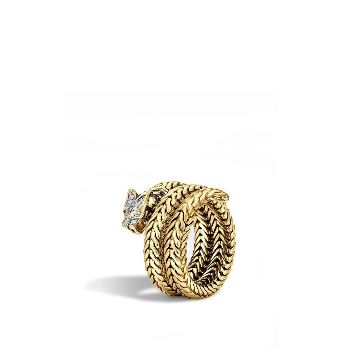 Legends Macan Coil Ring in 18K Gold with Diamonds