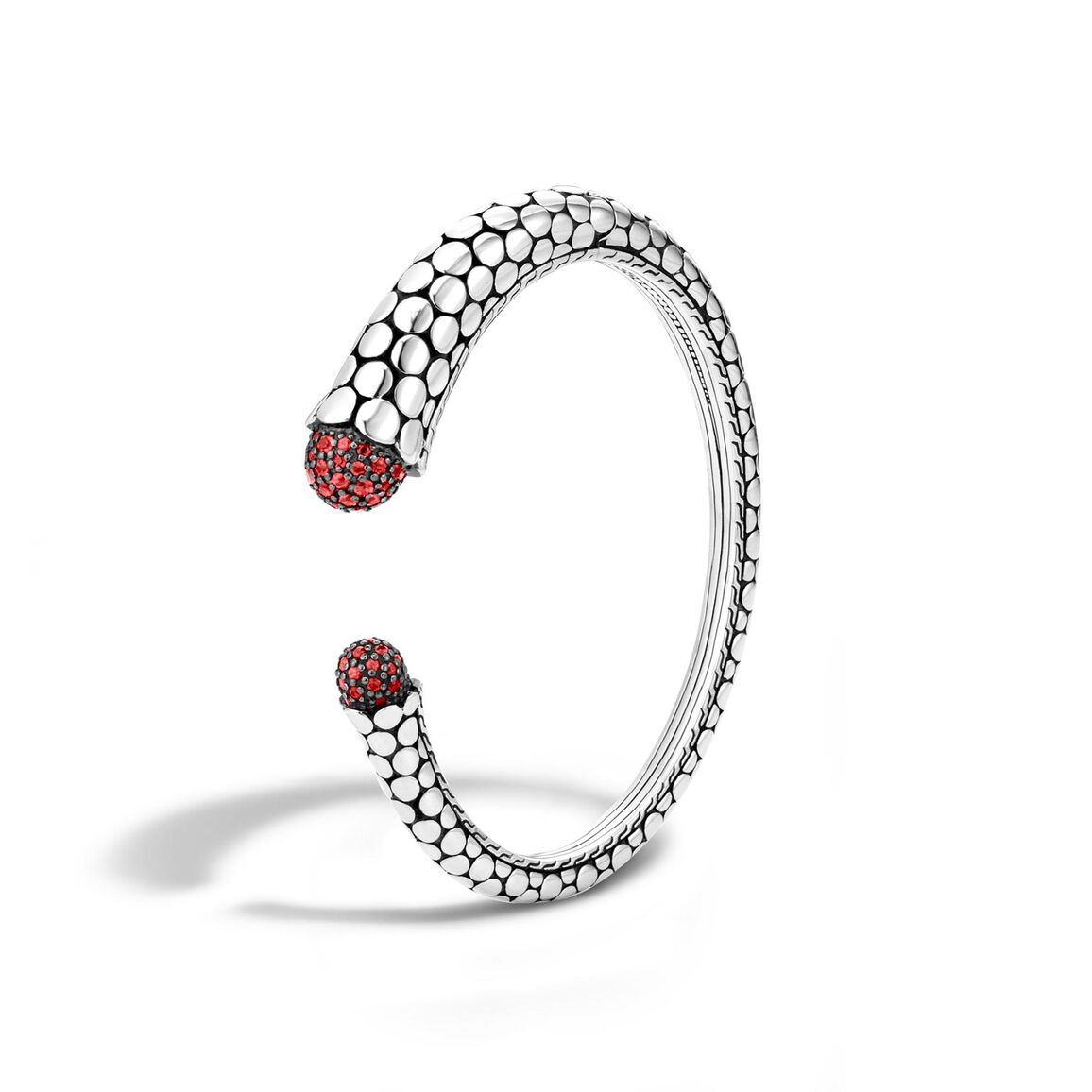 Dot Kick Cuff in Silver with Gemstone