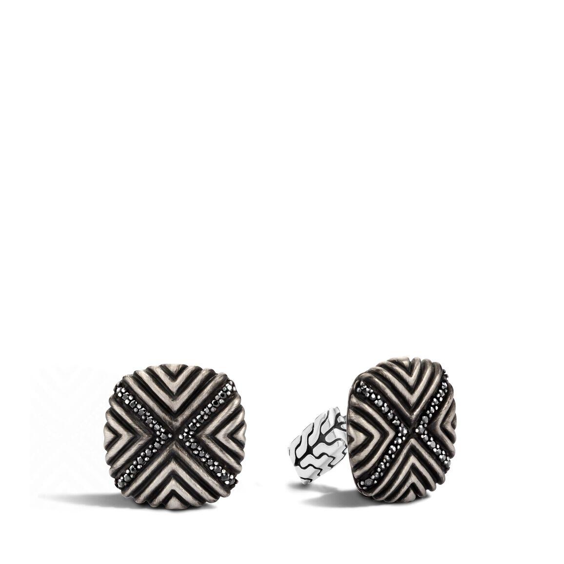Bedeg Cufflinks in Silver with Gemstone