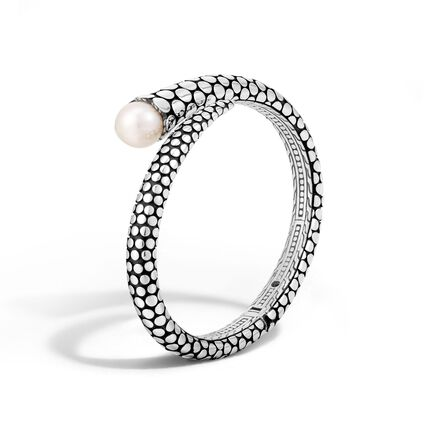 Dot Kick Cuff in Silver with 11MM Pearl