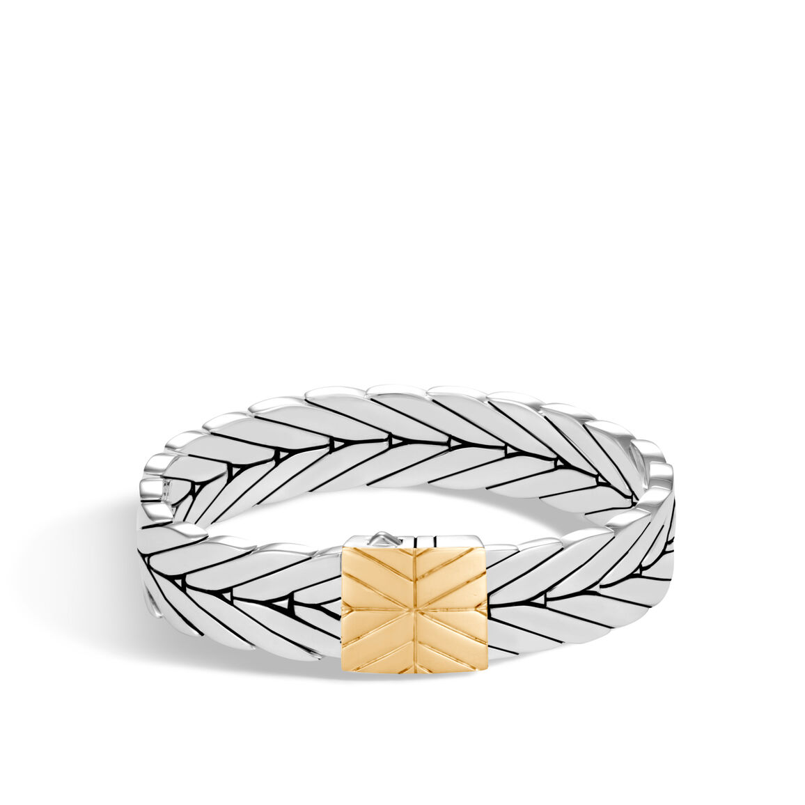Modern Chain 13MM Bracelet in Silver and 18K Gold